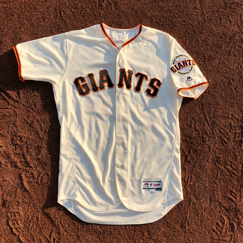 Photo of San Francisco Giants - HOLIDAY STEALS - 2017 Team-Issued Jersey - #22 Christian Arroyo - (Size: 46)