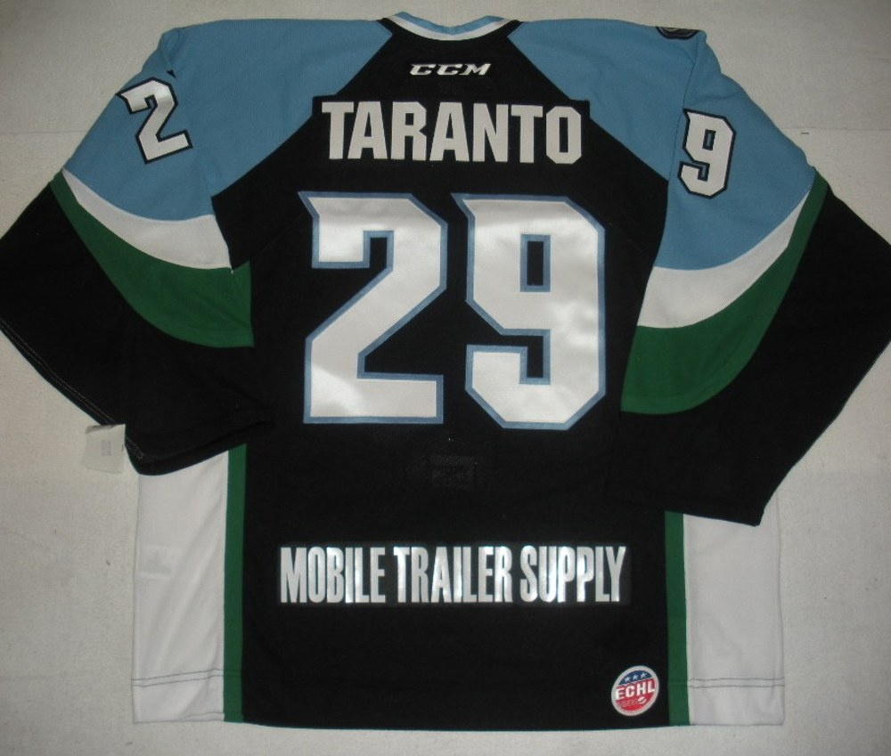Andy Taranto - 2014 Kelly Cup Finals - Alaska Aces - Black Game-Issued Jersey - Game 4