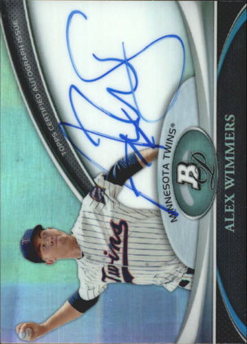 Photo of 2011 Bowman Platinum Prospect Autograph Refractors #AW Alex Wimmers