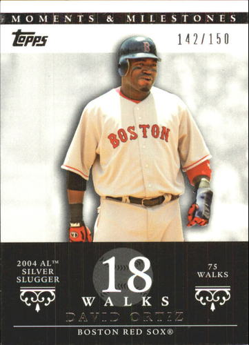 Photo of 2007 Topps Moments and Milestones #103-18 David Ortiz/BB 18