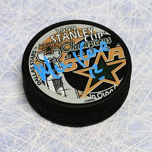 Mike Keane Dallas Stars Autographed 1999 Stanley Cup Puck