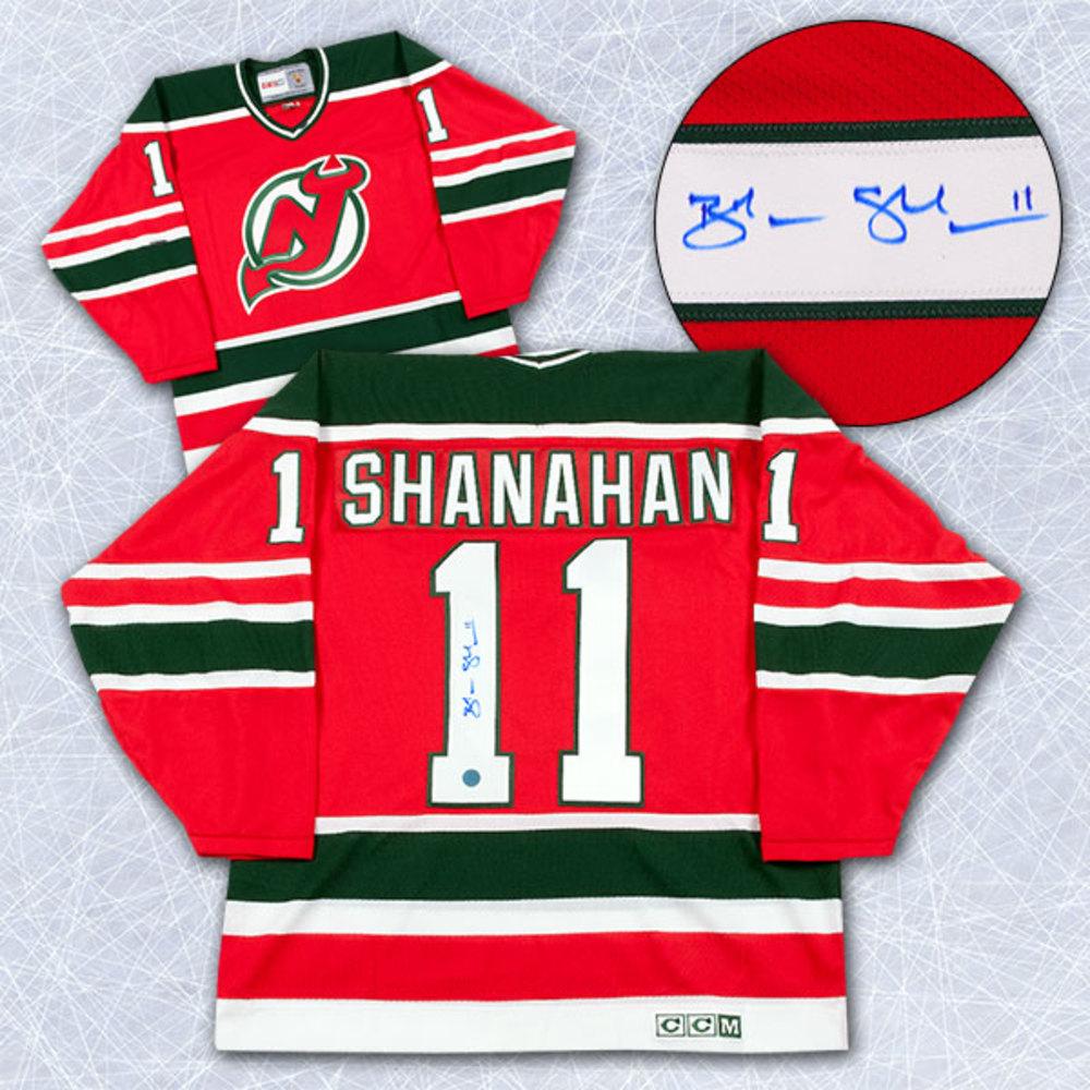 Brendan Shanahan New Jersey Devils Autographed Retro CCM Rookie Jersey
