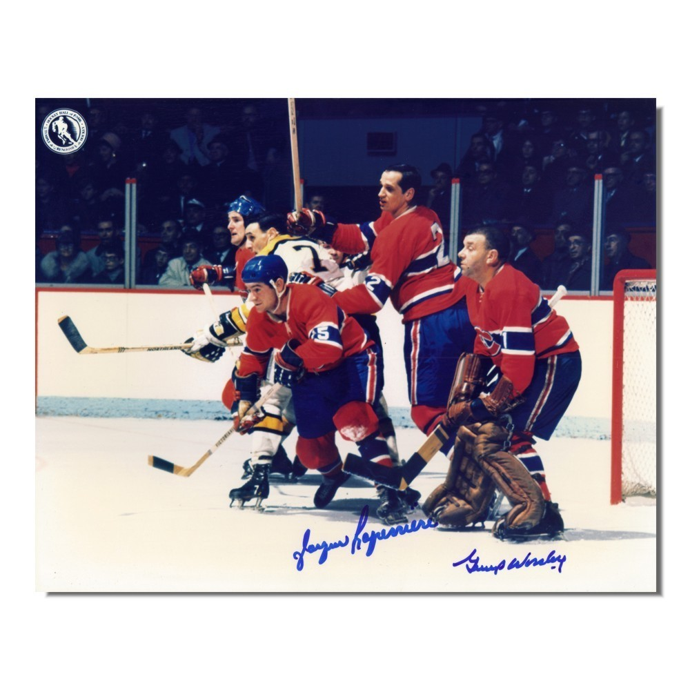 Gump Worsley (deceased) and Jacques Laperriere Autographed Montreal Canadiens 8x10 Photo