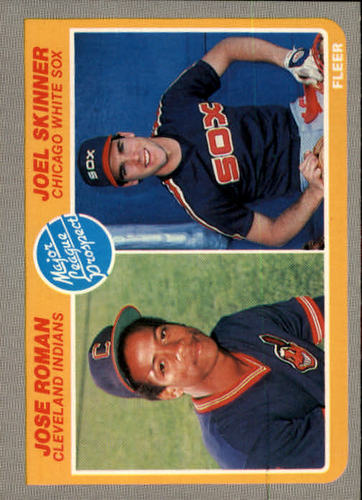 Photo of 1985 Fleer #646 Jose Roman RC/Joel Skinner