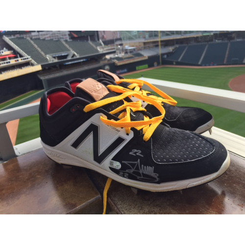 Photo of Support Pediatric Cancer: Children's Cancer Awareness Game-Used Cleats Worn and Autographed by Miguel Sano