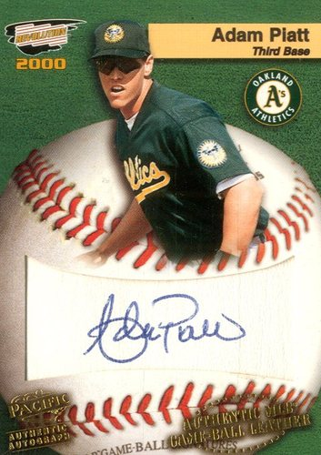 Photo of 2000 Revolution MLB Game Ball Signatures #16 Adam Piatt