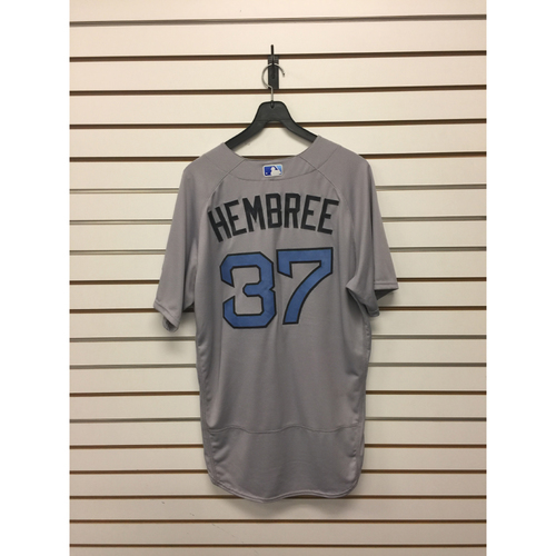 Photo of Heath Hembree Game-Used June 18, 2017 Road Jersey