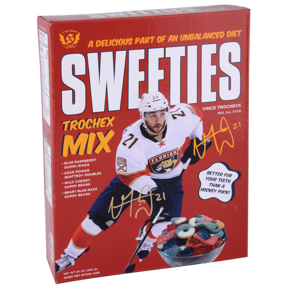 Vincent Trocheck Florida Panthers Autographed Sweeties Trochex Mix Candy Box