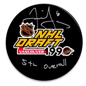 Jaromir Jagr 1990 NHL Draft Day 5th Pick Autographed Puck Florida Panthers