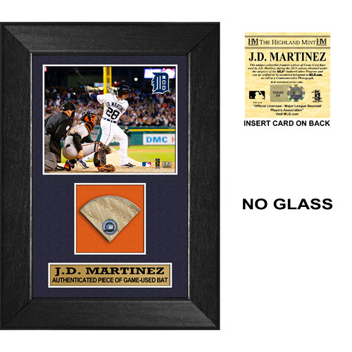 Photo of Detroit Tigers JD Martinez Game-Used Bat Plaque