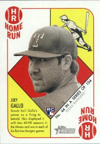 Photo of 2015 Topps Heritage '51 Collection #44 Joey Gallo RC