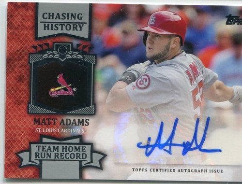 Photo of 2013 Topps Chasing History Autographs Matt Adams