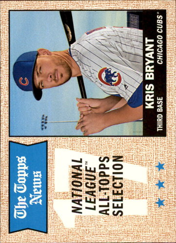 Photo of 2017 Topps Heritage #371 Kris Bryant All-Star Cubs post-season