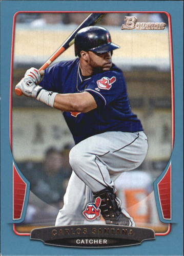 Photo of 2013 Bowman Blue #151 Carlos Santana 477/500 -- Indians post-season
