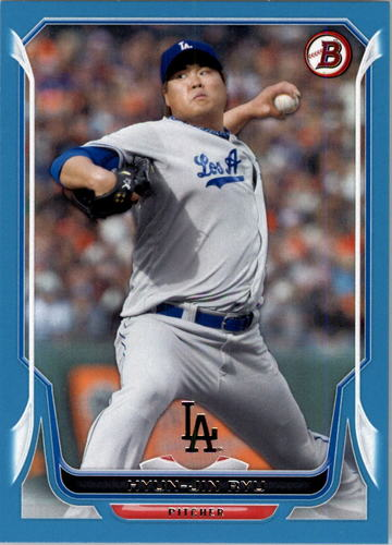 Photo of 2014 Bowman Blue #207 Hyun-Jin Ryu 475/500 -- Dodgers post-season