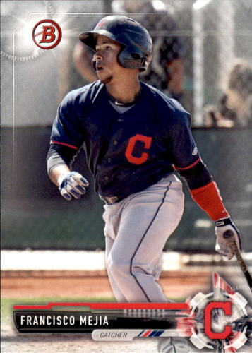 Photo of 2017 Bowman Prospects #BP51 Francisco Mejia -- Indians post-season