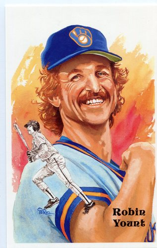 Photo of 1980-02 Perez-Steele Hall of Fame Postcards #244 Robin Yount -- Set #08689