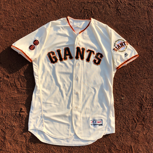 Photo of San Francisco Giants - HOLIDAY STEALS - 2016 Game-Used Jersey - #12 Joe Panik worn on 6/8/2016 & 6/15/2016 - 3-3, 1 RBI, 2 R,1 BB - (Size: 48)