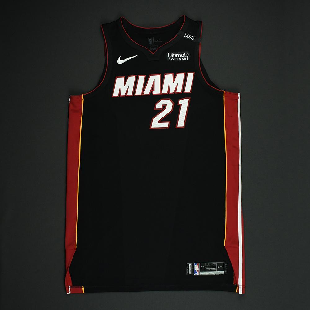 Hassan Whiteside - Miami Heat - 2018 NBA Playoffs Game-Worn Jersey