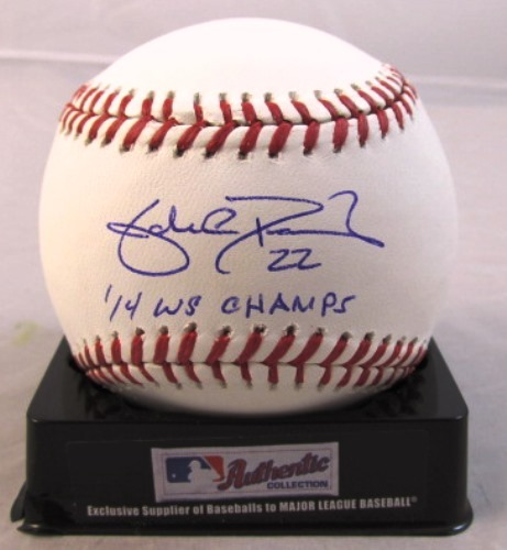"""Photo of Jake Peavy Autographed """"14 WS Champs"""" Baseball"""