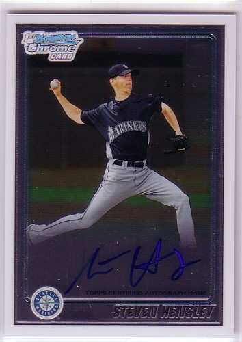 Photo of 2010 Bowman Chrome Prospects #BCP114B Steven Hensley AU