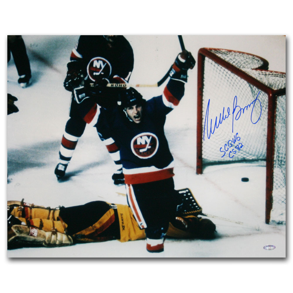 Mike Bossy Autographed New York Islanders 16X20 Photo