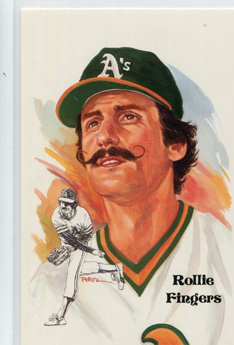 Photo of 1980-02 Perez-Steele Hall of Fame Postcards #212 Rollie Fingers -- Set #08689