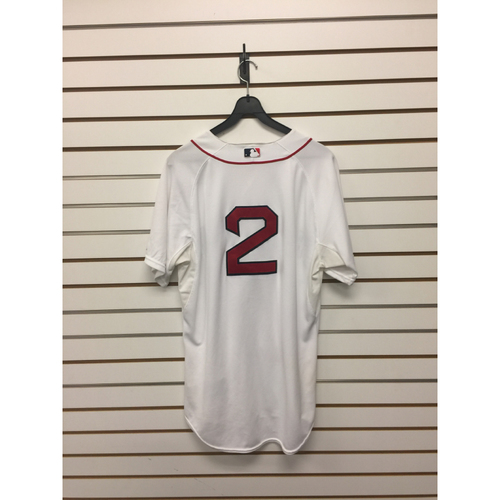 Photo of Xander Bogearts Game-Used September 22, 2015 Home Jersey