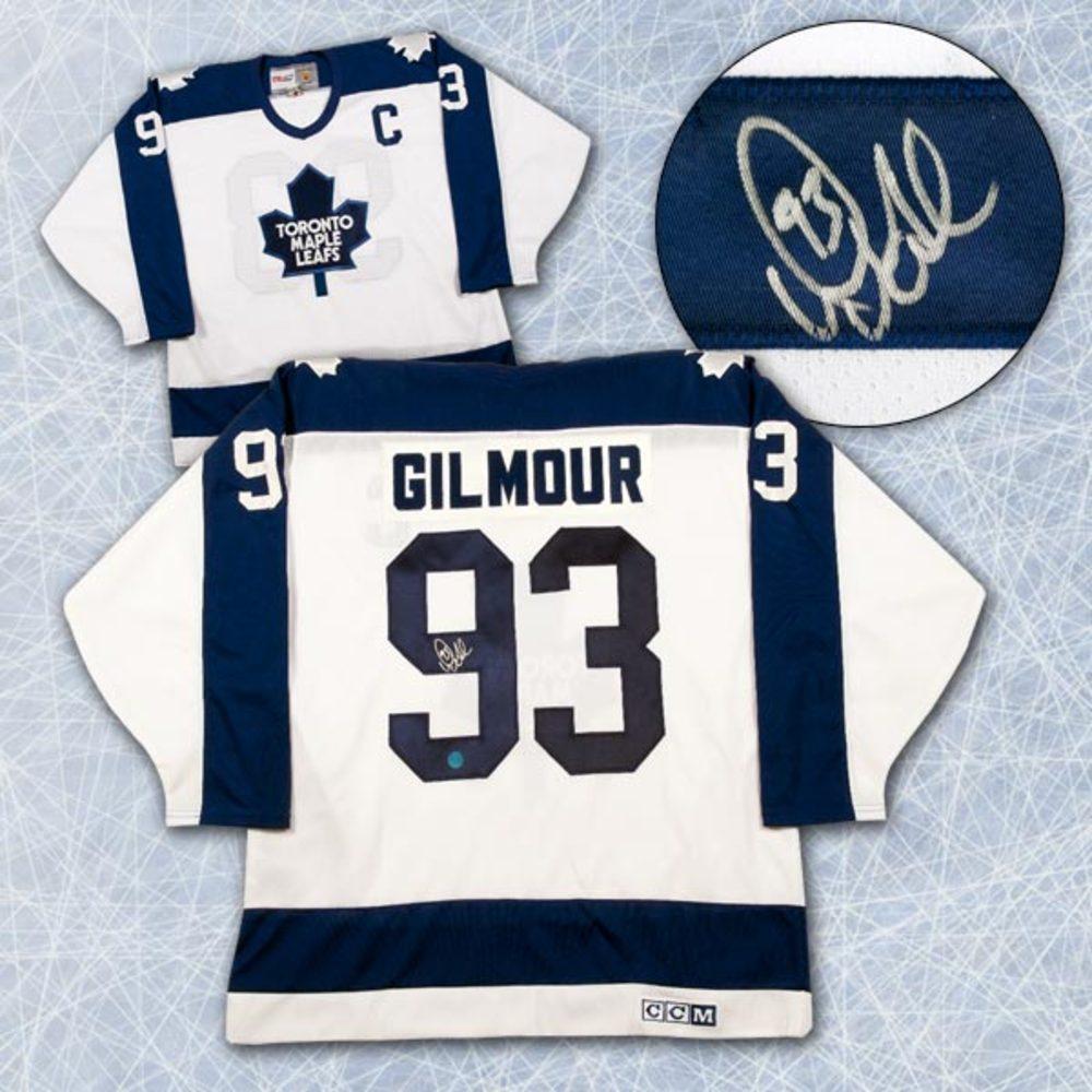 DOUG GILMOUR Toronto Maple Leafs SIGNED Retro Home Jersey