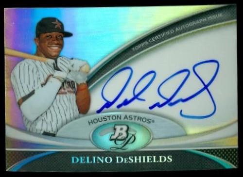 Photo of 2011 Bowman Platinum Prospect Autograph Refractors #DD Delino DeShields