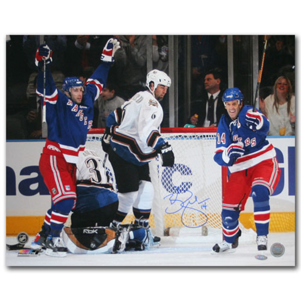 Brendan Shanahan Autographed 600th Goal 16X20 Photo (New York Rangers)