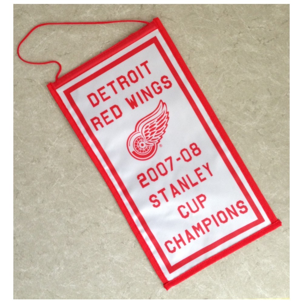 Detroit Red Wings 2007-2008 Mini Stanley Cup Champions Banner