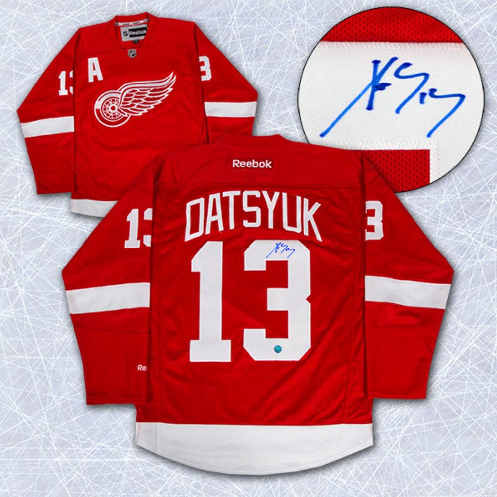 PAVEL DATSYUK Autographed Detroit Red Wings Reebok Premier Jersey
