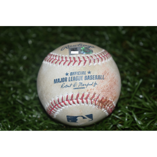 Photo of Game-Used Baseball: Pitched by Drew Smyly against Mike Trout