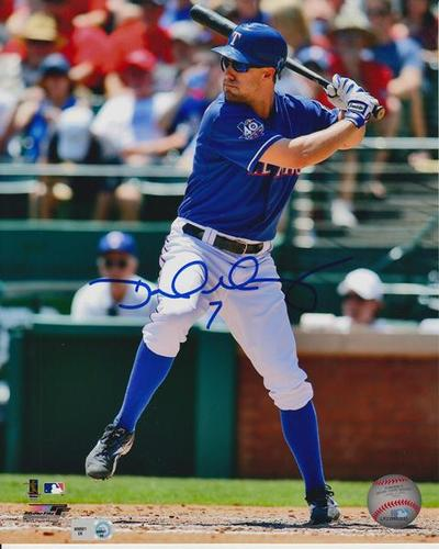 "Photo of David Murphy Autographed ""Hitting"" 8x10"