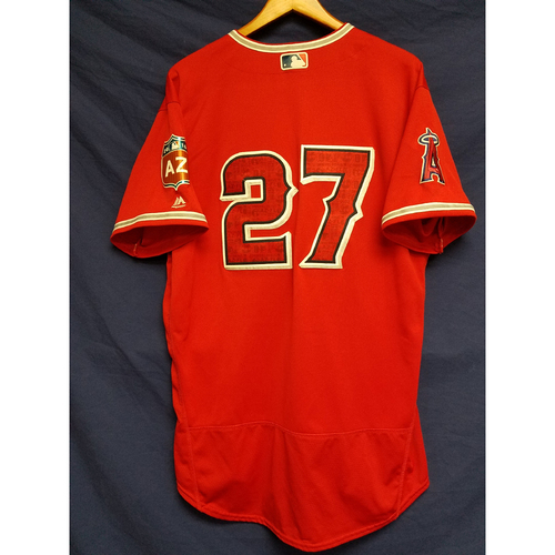 Photo of Mike Trout 2016 Spring Training Game-Used Jersey From Freeway Series