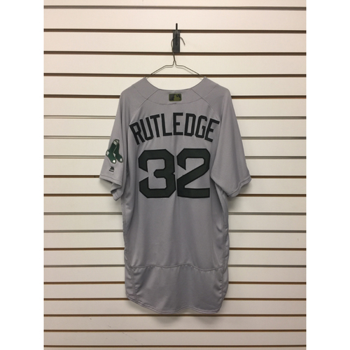 Photo of Josh Rutledge Game-Used May 29, 2017 Memorial Day Road Jersey