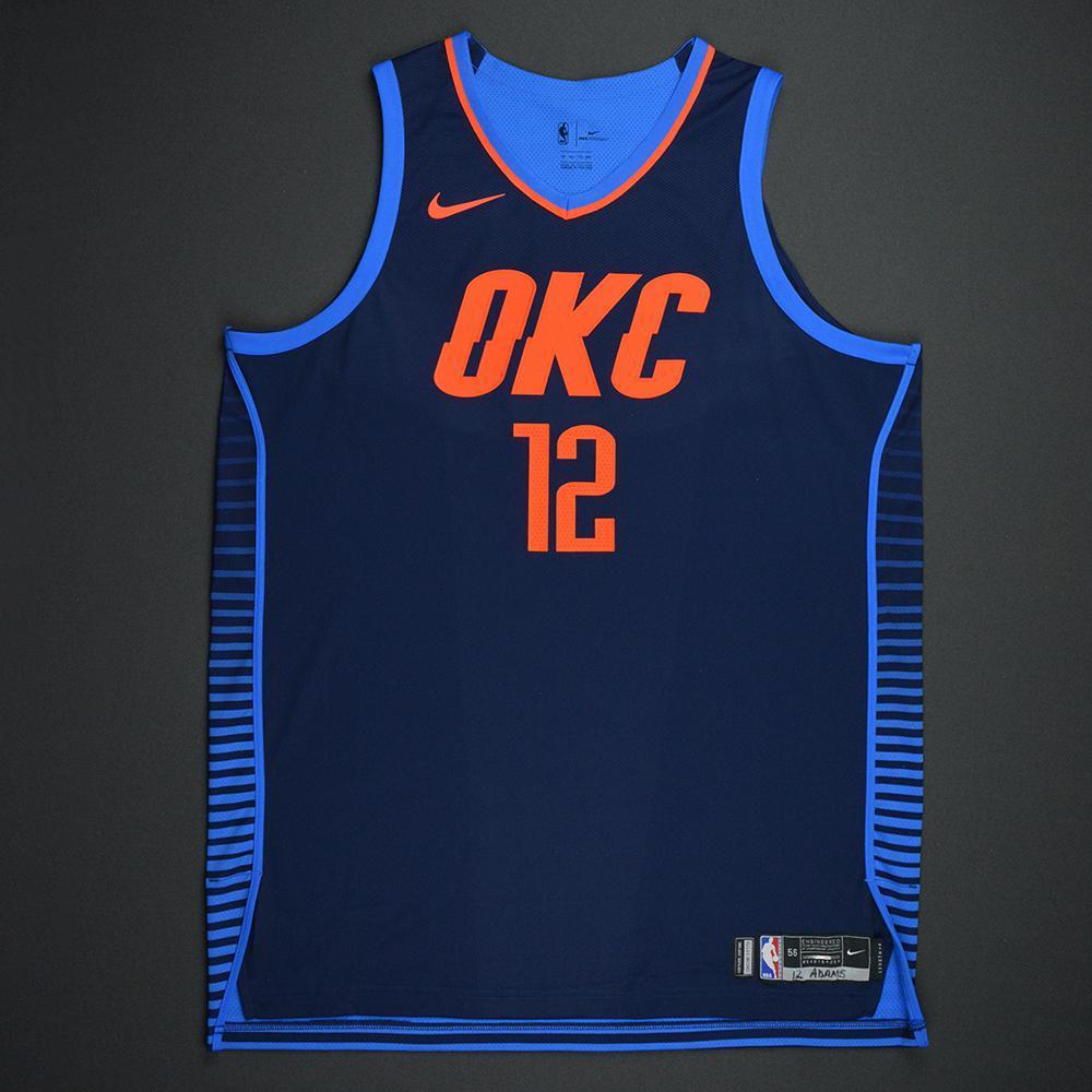 Steven Adams - Oklahoma City Thunder - Statement Game-Worn Jersey - Double-Double - 2017-18 Season