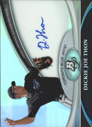 Photo of 2011 Bowman Platinum Prospect Autograph Refractors #DJ Dickie Joe Thon