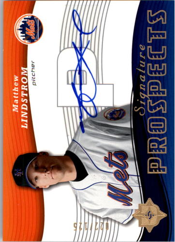 Photo of 2005 Ultimate Signature #156 Matthew Lindstrom AU RC
