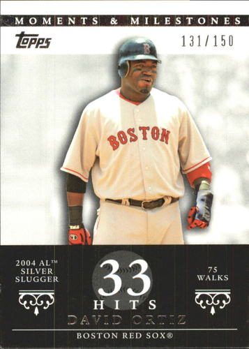 Photo of 2007 Topps Moments and Milestones #103-33 David Ortiz/BB 33
