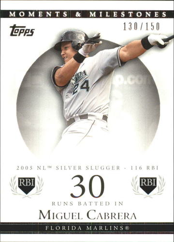 Photo of 2007 Topps Moments and Milestones #110-30 Miguel Cabrera/RBI 30