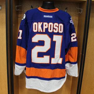 Kyle Okposo - Game Worn Home Jersey - 2015-16 Season - New York Islanders