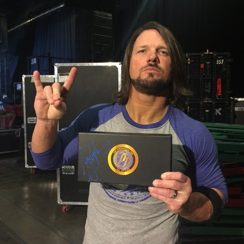 AJ Styles SIGNED WWE Championship Replica Title Side Plate Box Set
