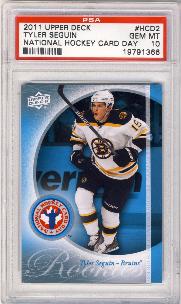 2011 UD #HCD2 National Hockey Card Day TYLER SEGUIN Boston Bruins Graded Rookie Card - GEM-MT PSA 10 (Dallas Stars)