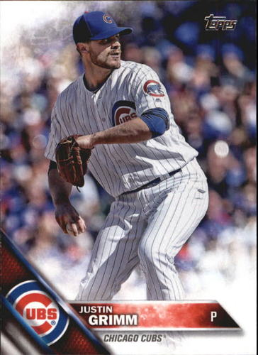 Photo of 2016 Topps Update #US276 Justin Grimm Cubs post-season