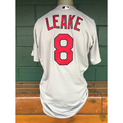 Photo of Cardinals Authentics: Mike Leake Game Worn Road Grey Jersey