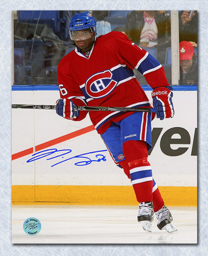 P.K. SUBBAN Montreal Canadiens SIGNED 8x10 Rookie Action Photo
