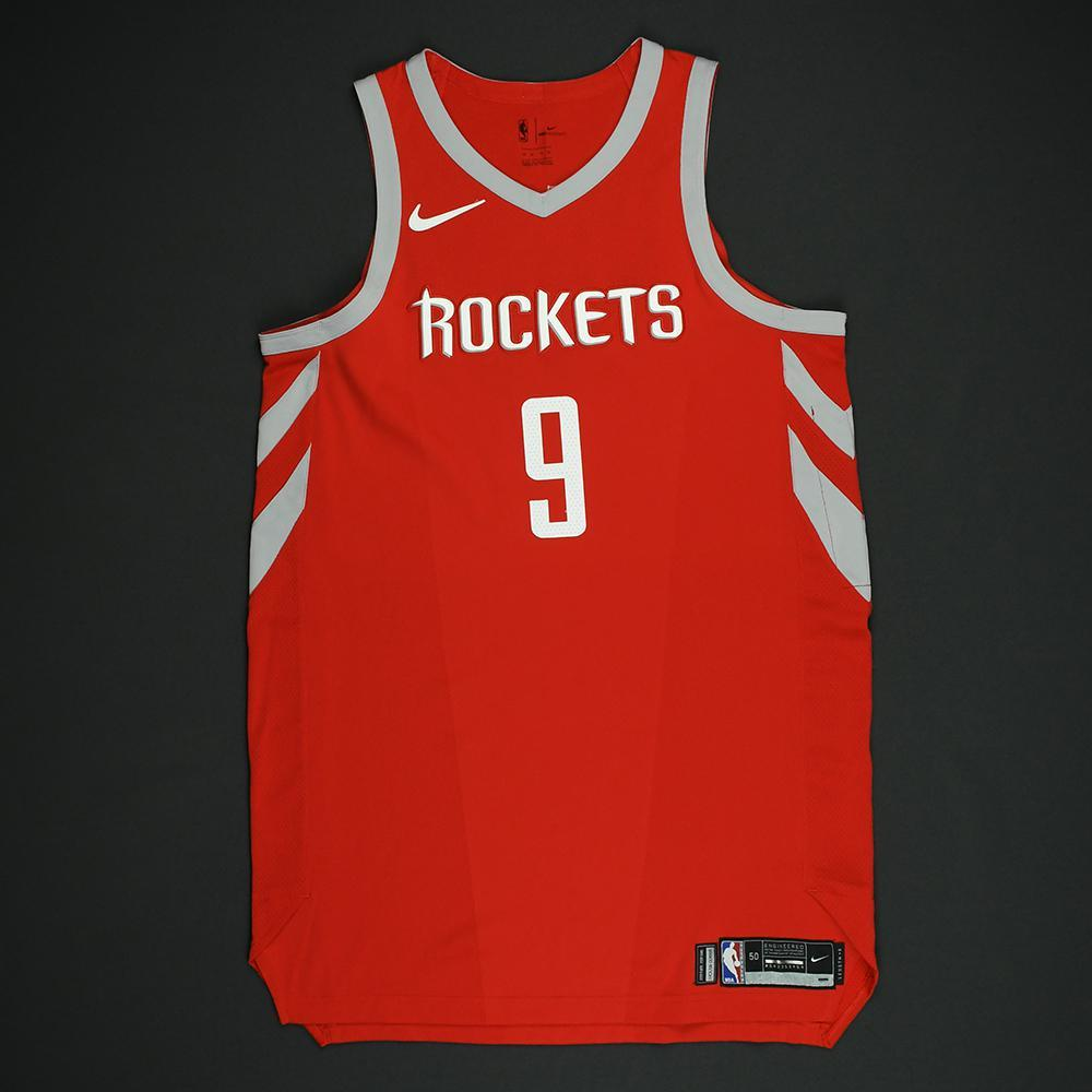 Zhou Qi - Houston Rockets - NBA Christmas Day '17 Game-Worn Jersey - Dressed, Did Not Play