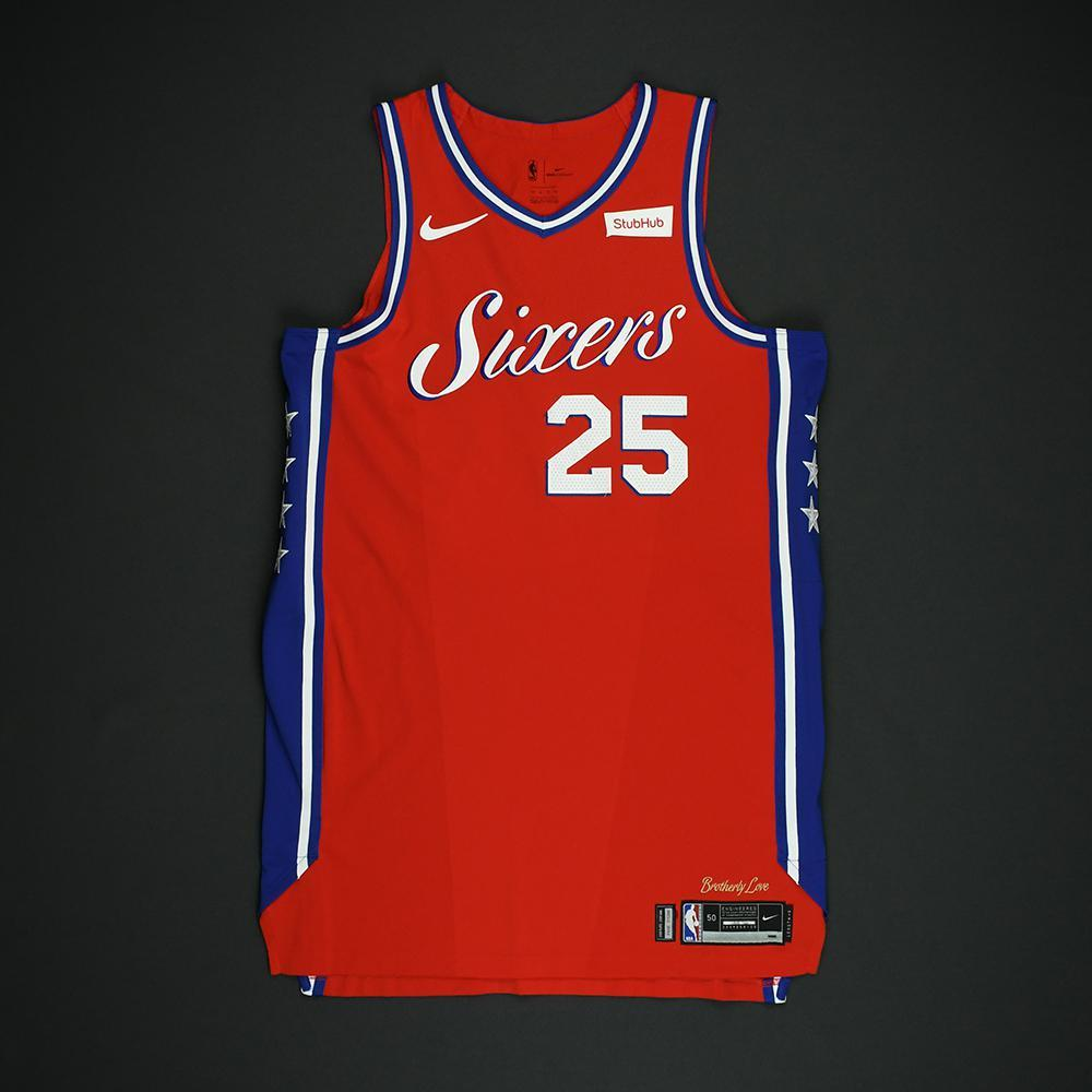 Ben Simmons - Philadelphia 76ers - NBA Christmas Day '17 'Statement' Game-Worn Jersey
